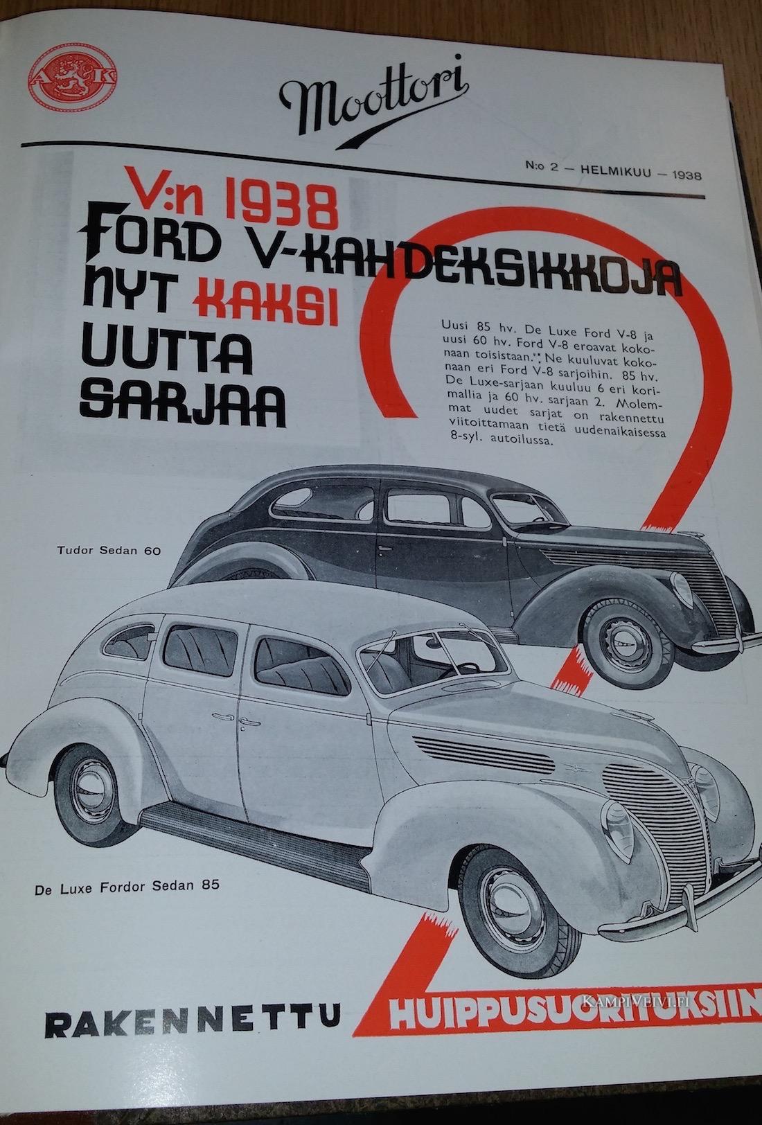 Lähde: Moottori-lehti 1938