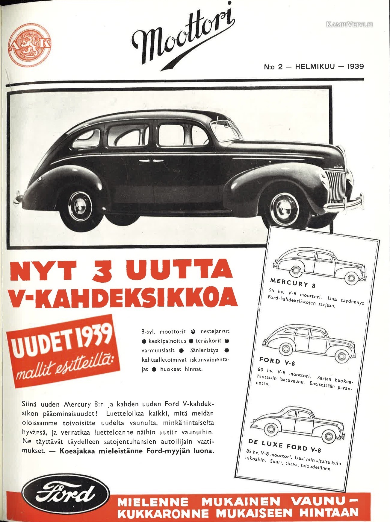 1939FordDeluxe-moottori