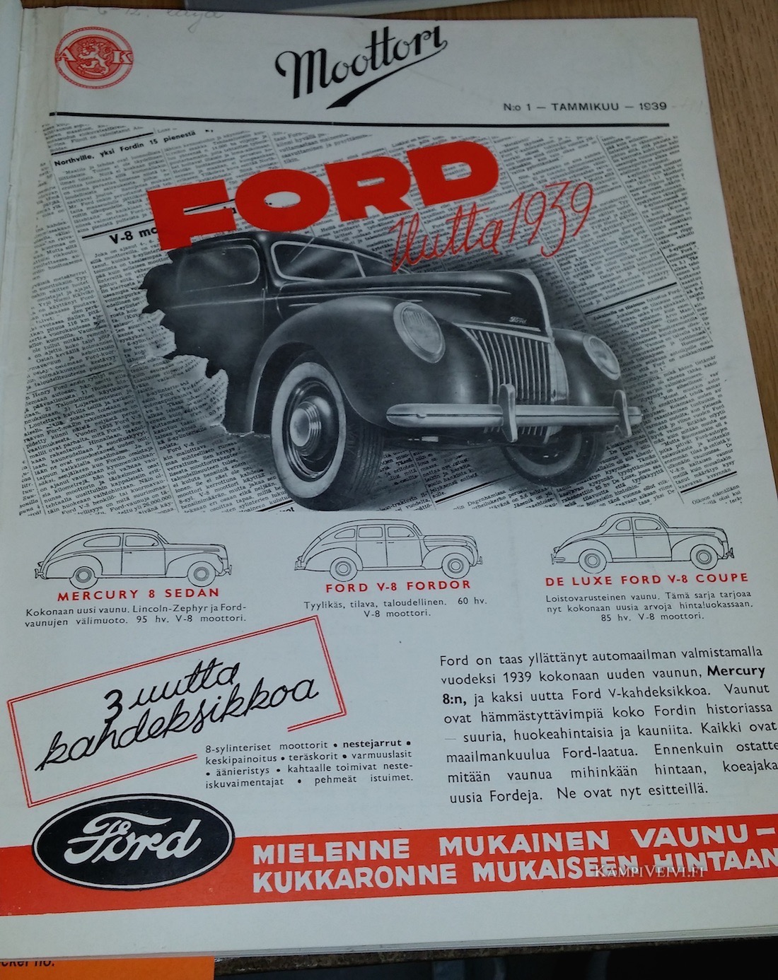 Lähde: Moottori-lehti 1939