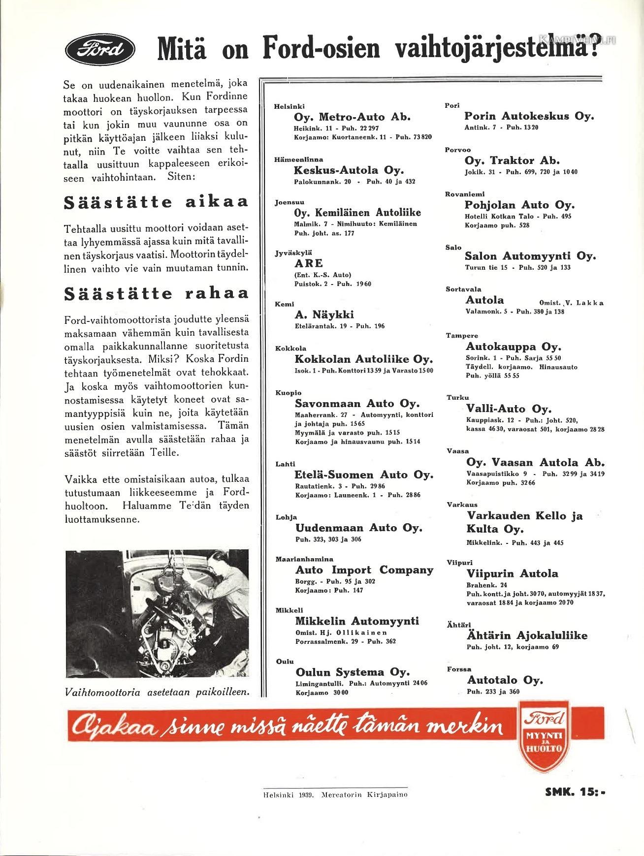 1939vaihtojärjestelmä-moottori