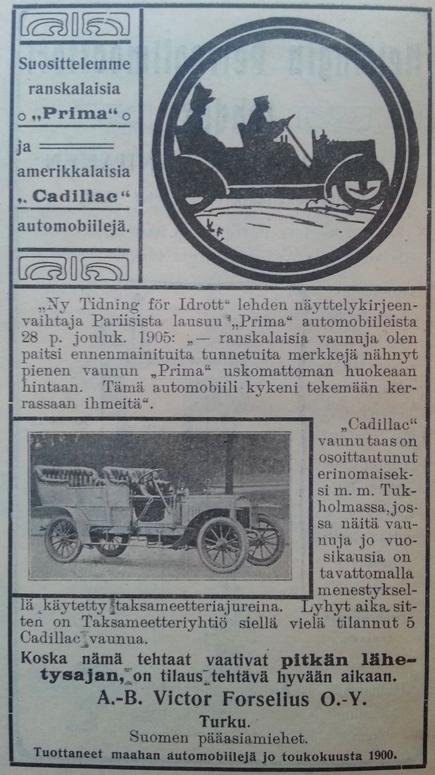 Suosittelemme Prima ja Cadillac automobiileja