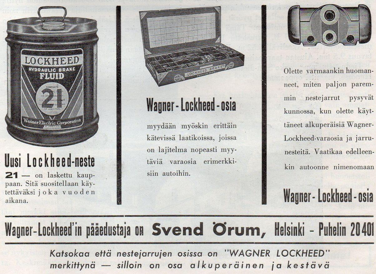 Wagner-Lockheed -jarrutuotteita